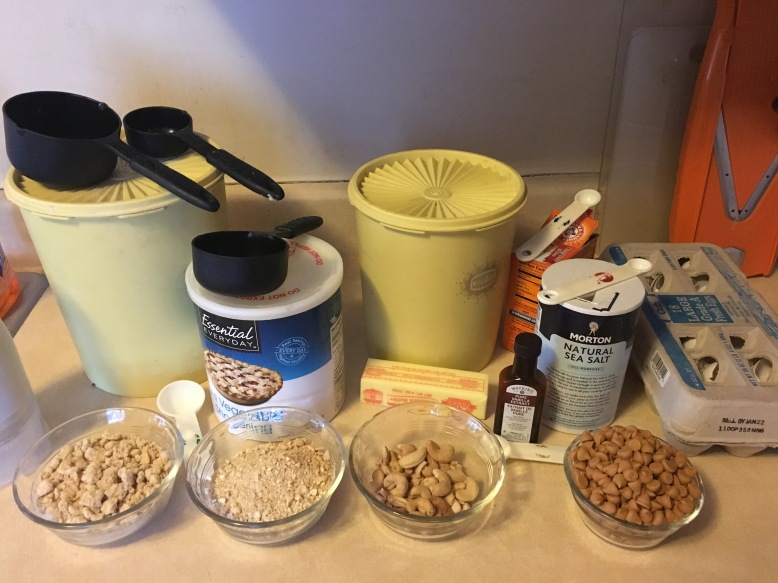 Cashew icebox cookies - mise en place