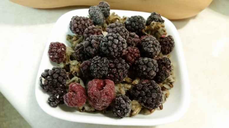 Wild Rice with Frozen Berries